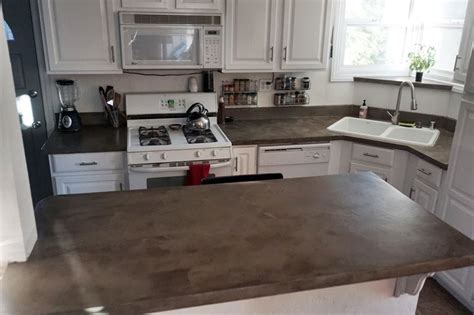 Kitchen With Off White Cabinets lovely imperfection the best sealer for concrete