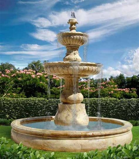 water fountains front yard and backyard designs large