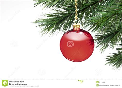 christmas tree ornament white background stock photo