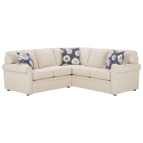 rowe brentwood sectional rowe brentwood rolled arm sectional sofa belfort