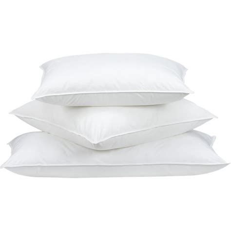 down bed pillows down alternative bed pillows crate and barrel