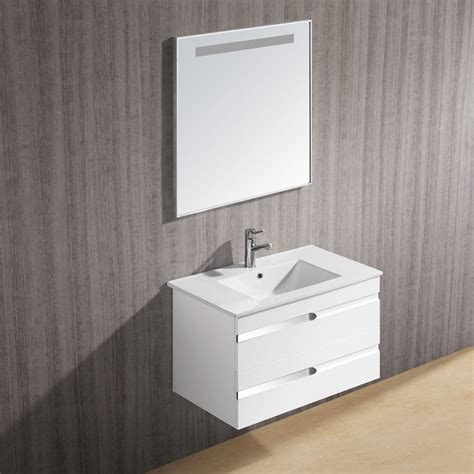 vigo bathroom vanity vigo 32 quot ethereal petit single bathroom vanity with mirror