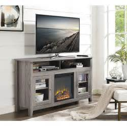 tv stand with fireplace home depot walker edison furniture company driftwood entertainment