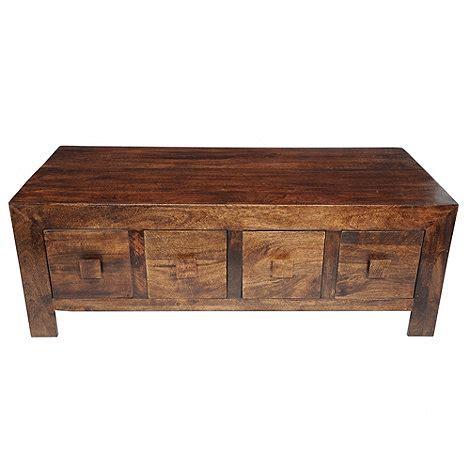 mango wood coffee table with drawers debenhams mango wood coffee table with 8 drawers at