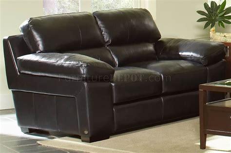 leather italia black classic soho sofa loveseat set w