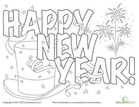 free printable coloring pages new years worksheets new year s and coloring pages on