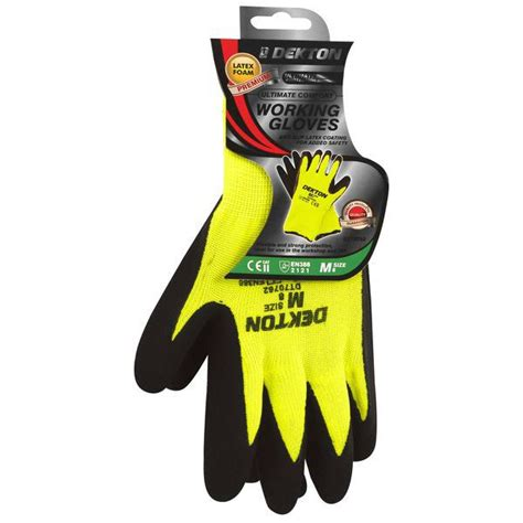 comfort grip gloves dekton comfort grip working gloves latex foam black hi vis