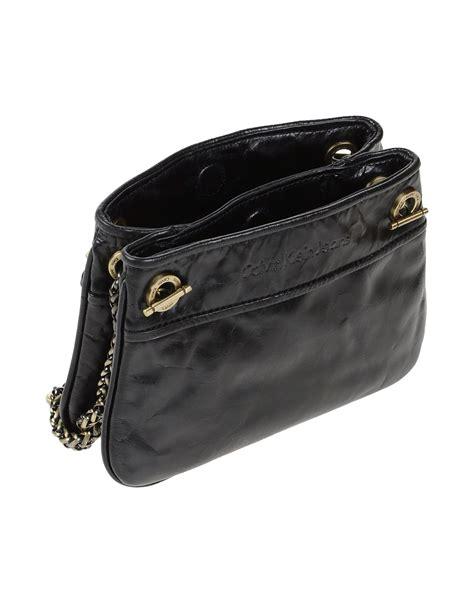 Ck Magnetic With Mini Bag lyst calvin klein cross bag in black