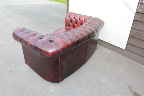 antique red leather sofa antiques atlas red leather 2 seater chesterfield sofa