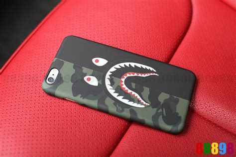 Iphone 7 Plus Bape Pattern Bathing Ape Hardcase 1 a bathing ape bape 1st camo shark phone cover for iphone 7 7 plus 6 6s