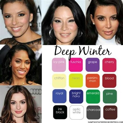 hair color for winter complexion 1000 images about dcc deep dominant color category on