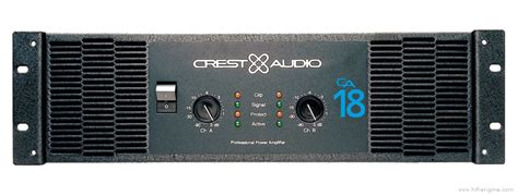 Power Lifier Crest Audio Ca 18 Crest Audio Ca18 Manual Stereo Power Lifier Hifi Engine