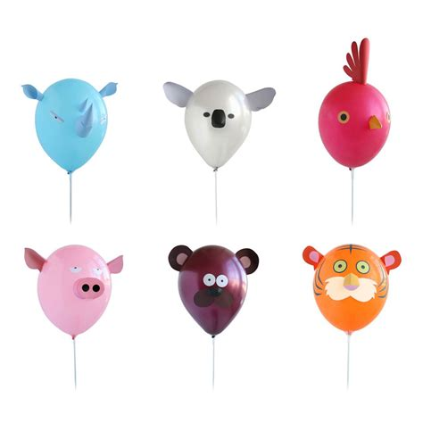 Air heads animal party balloons the green head