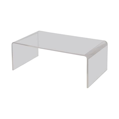 Peekaboo Clear Coffee Table 67 Cb2 Cb2 Peekaboo Acrylic Coffee Table Tables