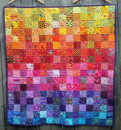 How To Quilt A Quilt by Rainbow I Quilt Done And Dusted Wombat Quilts