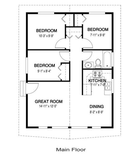 Three Bedroom Cottage House Plan by Yes You Can A 3 Bedroom Tiny House 768 Sq Ft One For