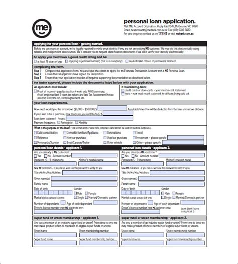 note template  personal loan templates  sample