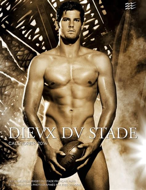 Calendrier 2018 Rugbyman 2014 Dieux Du Stade Calendar Jules Plisson Olivier