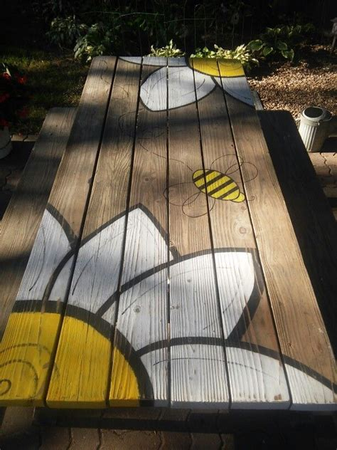 cool painted picnic tables best 25 picnic table paint ideas on outdoor