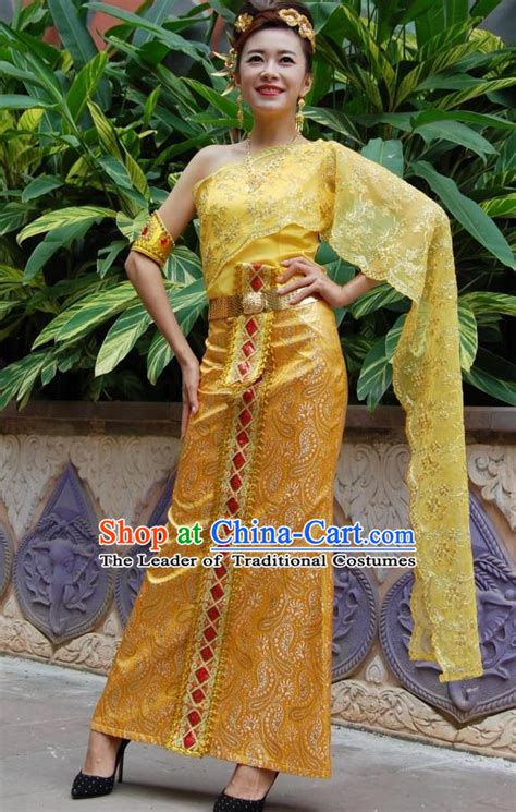 Dress Thaigirl thailand clothing traditional thai style dresses thailand national costume