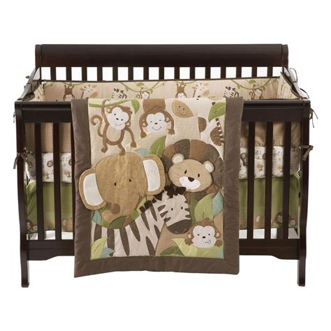 Small Wonders 4 Piece Zoomba Safari Crib Bedding Set Safari Crib Bedding