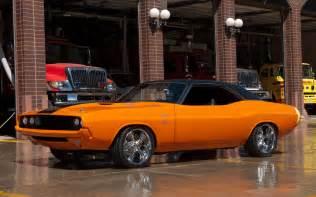 dodge challenger cars rod custom orange