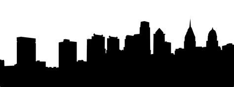Skyline Outline by Philadelphia Skyline Silhouette Clipart Best