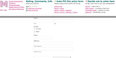 Sweepstakes Autofill - sweepstakes max review