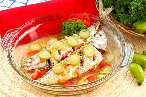 Ikan Kukus Cabe kembung kukus asam pedas resep dari dapur