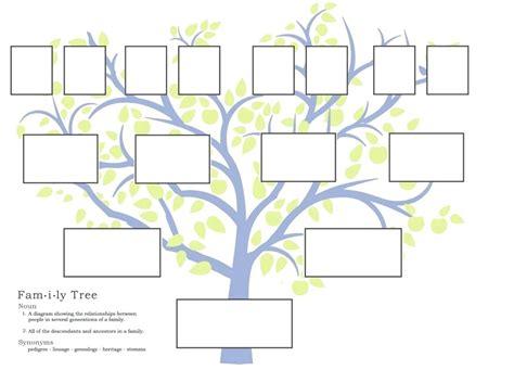 printable and editable family tree template custom family tree template