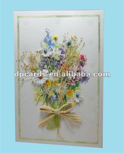 Buy Handmade Cards - beautiful handmade cards with dried flower decoration