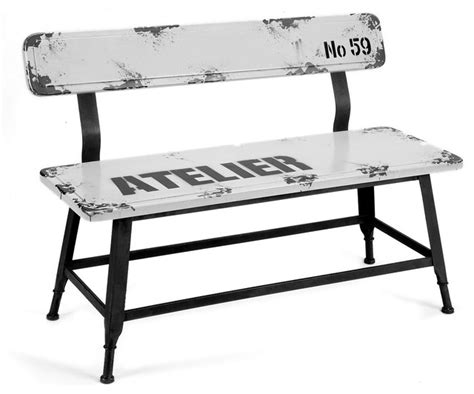 industrial park benches park bench white industrial accent storage benches