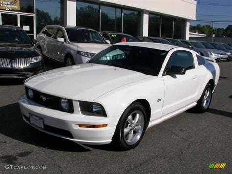 2007 mustang gt performance specs 2007 performance white ford mustang gt premium coupe