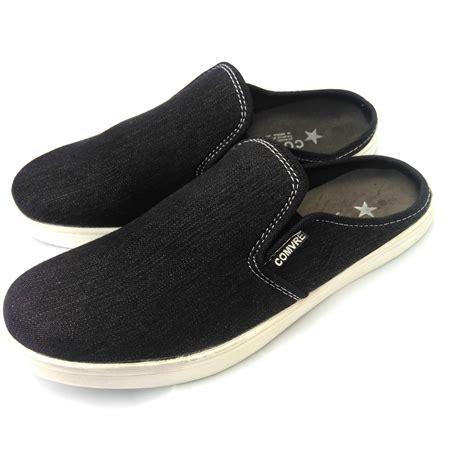 sepatu sandal pria denim size 39 43 selop pria bustong elevenia