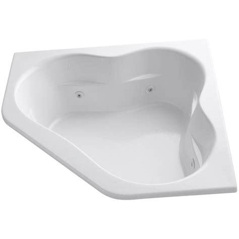 kohler corner bathtub kohler tercet 5 ft acrylic corner alcove whirlpool