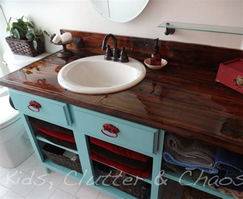 Diy Wood Bathroom Countertop by Diy Home Sweet Home 9 Amazing Diy Kitchen Countertop Ideas