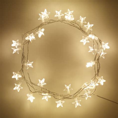 star fairy lights for bedroom 30 warm white led star fairy lights on clear cable lights4fun co uk