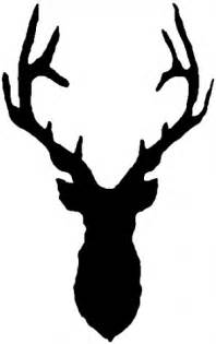 deer head shadow car or truck window decal sticker rad