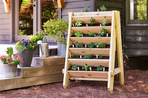 How To Make Vertical Garden Planters How To Build A Vertical Herb Or Lettuce Planter