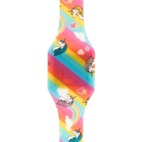 Where Can You Buy Claire Gift Cards - unicorn rainbow print digital blink watch claire s