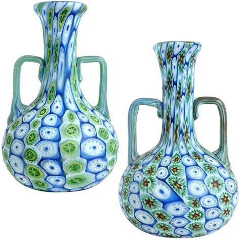 millefiori vase fratelli toso murano millefiori flower mosaic italian