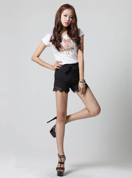 Big ribbon hotpants   Korean Fashion