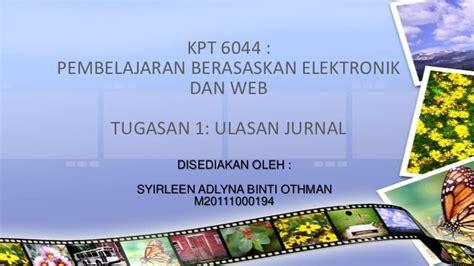 cara membuat kritikan jurnal kpt6044 tugasan 1 ulasan jurnal