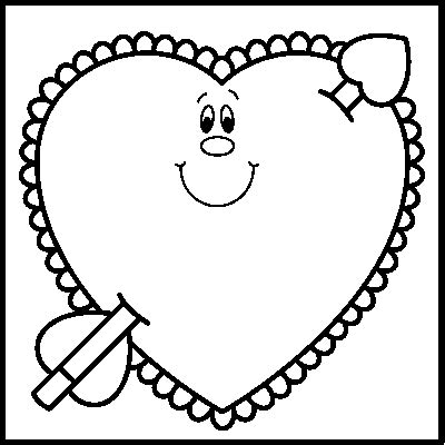 valentines day black and white clip black and white clipart best
