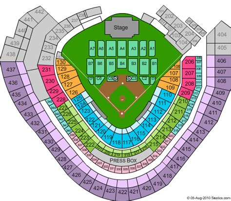 miller park seating map miller park seating chart
