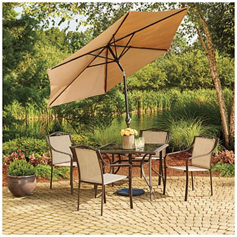 Wilson Fisher Linen 9 Market Umbrella Big Lots Big Lots Patio Umbrella