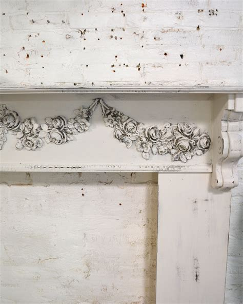 shabby chic mantle painted cottage chic shabby oyster fireplace mantle