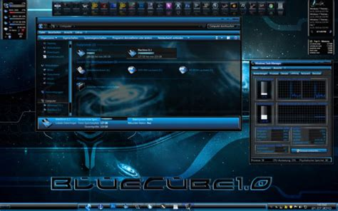 themes for windows 7 blue blue cube theme for windows 7 desktop themes