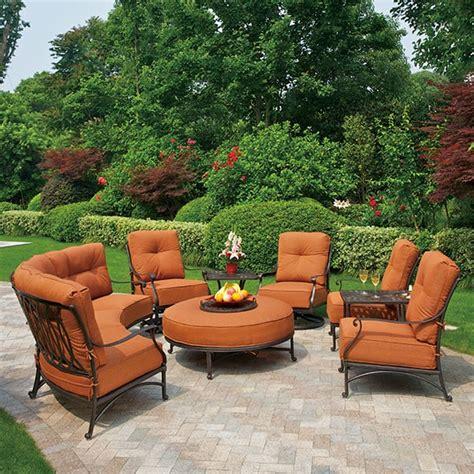 Hanamint Patio Furniture Sale Mayfair Estate Sectional By Hanamint Family Leisure