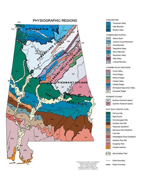 physical map of alabama alabama maps physical features
